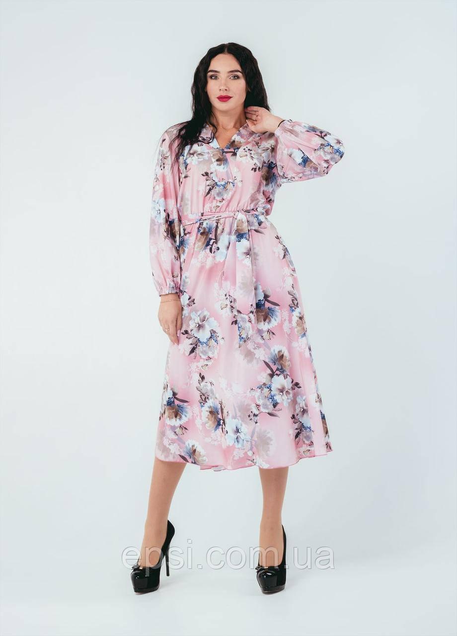 Платье Alpama SO-78249-PNK Розовый 50