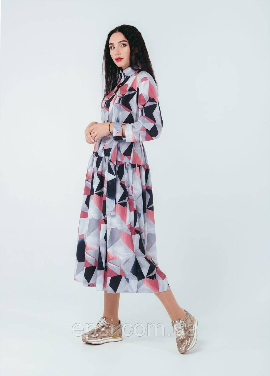 Платье Alpama SO-78255-GRY Серое 48