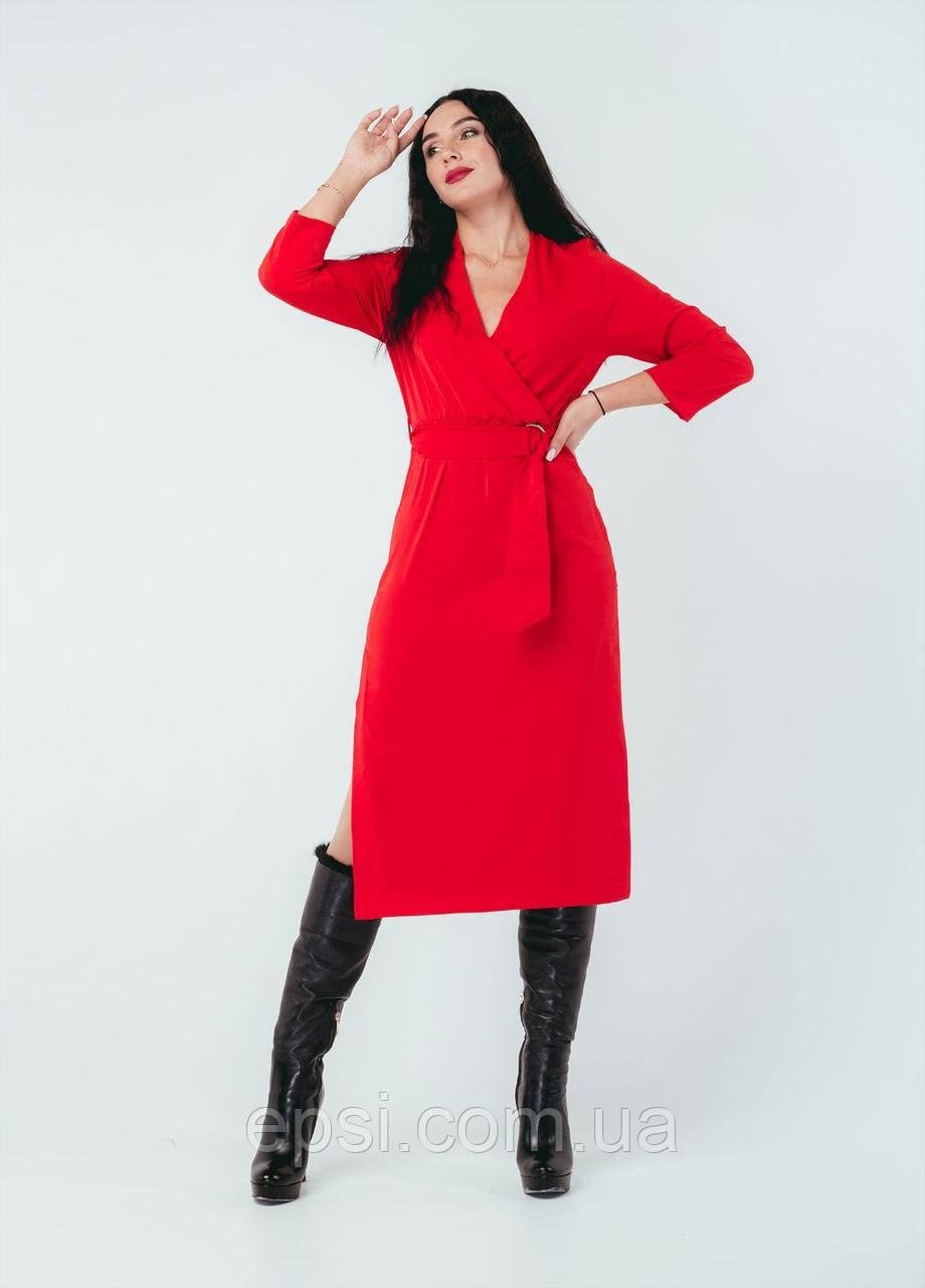 Платье Alpama SO-78259-RED Красный 50