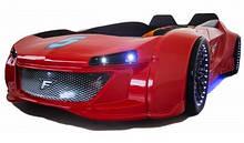 Детская кровать машина Jaguar красная