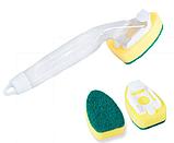 Губка с полой ручкой-емкостью для моющего средства, фото 4