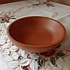 Деревянная глубокая тарелка пиала 19 см. Тарелка для подачи из бука, фото 5
