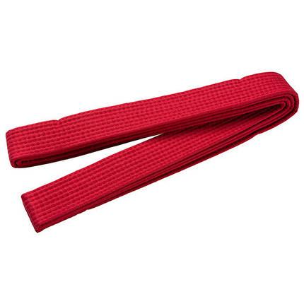 Пояс для кимоно красный 280 см, фото 2