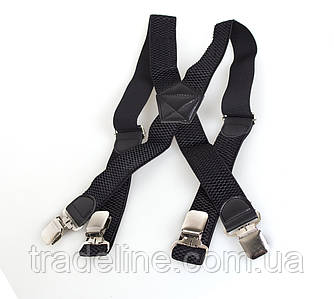Підтяжки чоловічі Dovhani Р003-1BLACK-555 Чорні