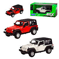 Машинка Jeep Wrangler Rubicon Welly 22489H-W