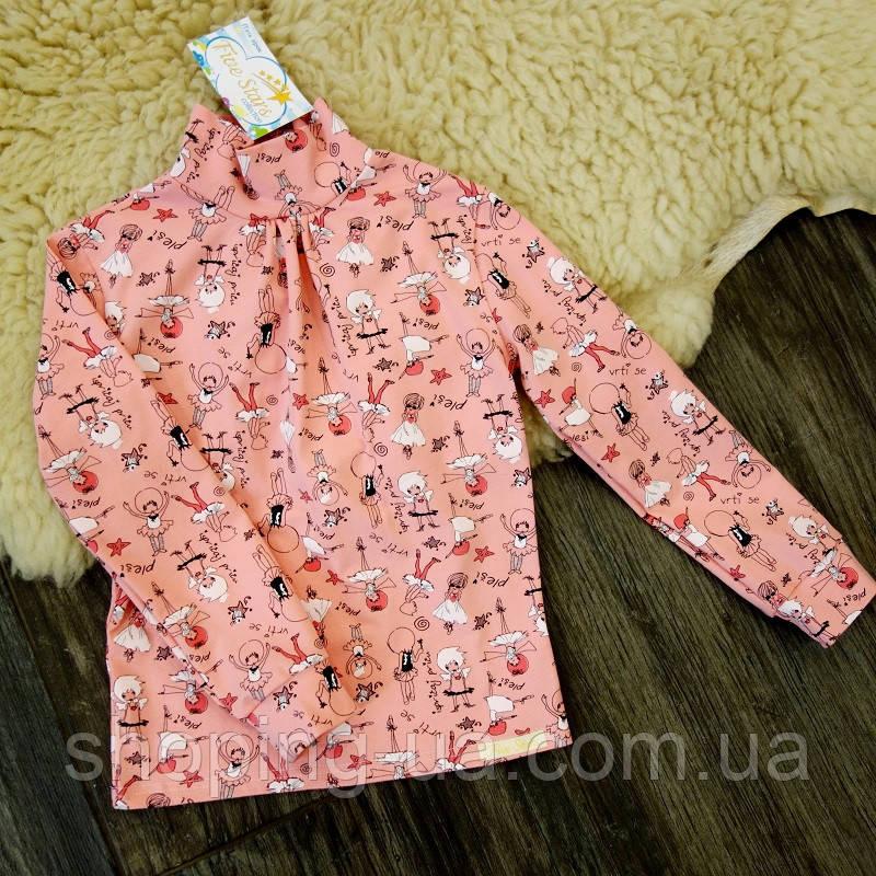 Стильная водолазка - гольф девочки на розовом Five Stars KD0386-110р