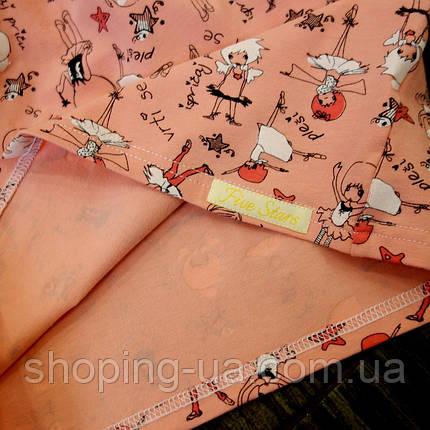 Стильная водолазка - гольф девочки на розовом Five Stars KD0386-110р, фото 2
