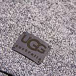 Колпак UGG, на полном флисе, кожаный логотип, фото 2