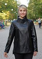 Кожаная курточка больших размеров 64