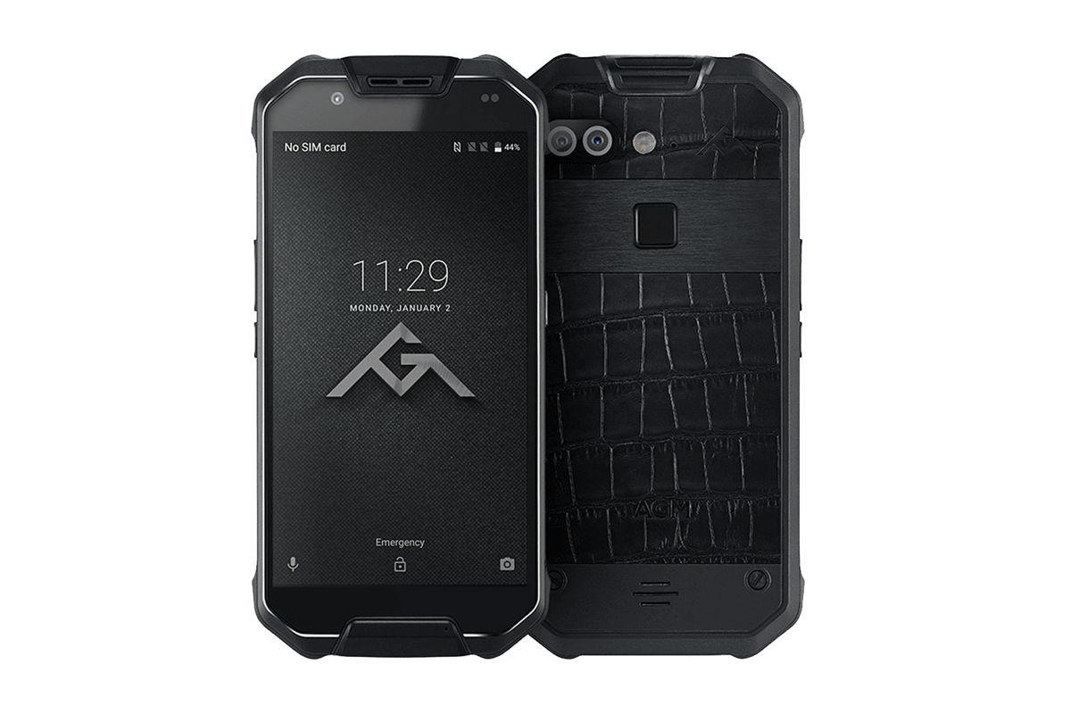 Защищенный телефон  AGM X2 6/64Gb black leather противоударный водонепроницаемый смартфон