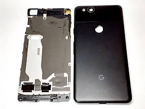 Корпус + средняя часть с динамиком,кнопками и шлейфами Google Pixel 2 черный оригинал сервисный, фото 2