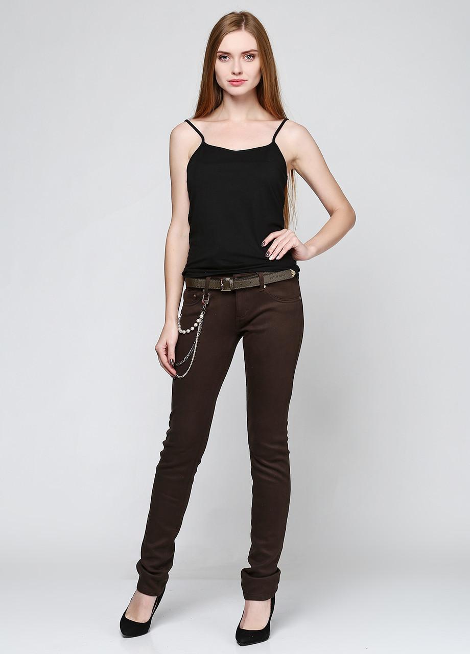 Коричневые демисезонные брюки A.M.N. размер 29(46) AL-6649-00