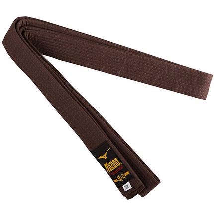 Пояс для кимоно коричневый Mizuno 270 см, фото 2