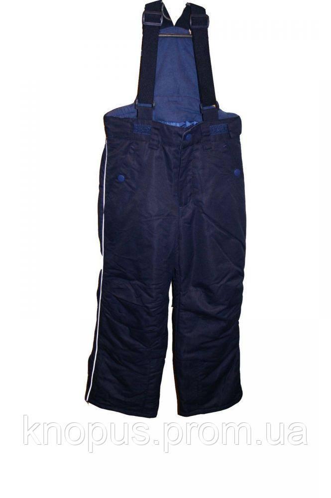 Зимний лыжный термо полукомбинезон детский, синий, Pidilidi