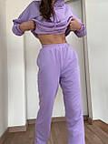 Жіночі спортивні штани джоггеры , ліловий колір, якість преміум, фото 4