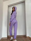 Жіночі спортивні штани джоггеры , ліловий колір, якість преміум, фото 5