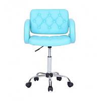 Парикмахерское кресло косметологическое косметическое крісло косметичне перукарське Hoker голубой