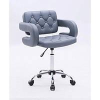 Парикмахерское кресло косметологическое косметическое крісло косметичне перукарське Hoker серый