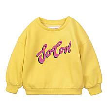 Детский свитшот, батник, джемпер, реглан для девочки 1-3 года, Minoti 80-86 см