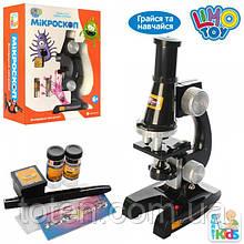 Микроскоп Опыты детский 21см, свет, стекла, пробирки SK 0007