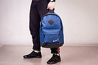 Рюкзак городской мужской | женский, для ноутбука Nike (Найк) синий-черный спортивный