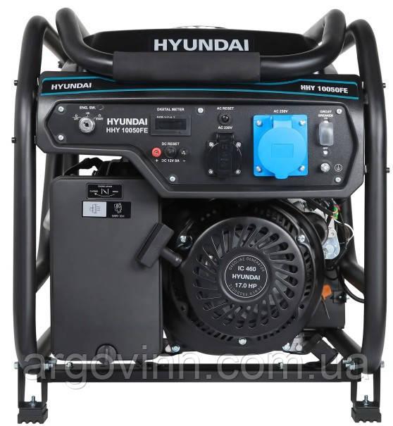 Генератор бензиновий  Hyundai HHY 10050FE  (Південна Корея)