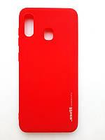 Чохол силіконовий SMTT Samsung A20/ A30 червоний
