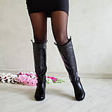 Женские зимние сапоги черная кожа ТМ Bona Mente, фото 5