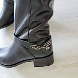 Женские зимние сапоги черная кожа ТМ Bona Mente, фото 8