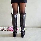 Женские зимние сапоги черная кожа ТМ Bona Mente, фото 10