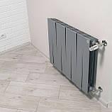 Радиатор биметаллический Royal Thermo PianoForte 500 Silver Satin (8 секций), фото 5