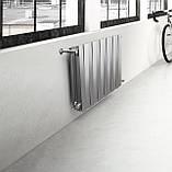Радиатор биметаллический Royal Thermo PianoForte 500 Silver Satin (8 секций), фото 6