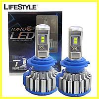 Комплект автомобильных LED ламп T1 H11 / Светодиодные лампы TurboLed, фото 1