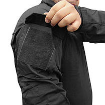 Костюм тактический Lesko A751 Black M (32 р.) камуфляжный комплект для мужчин с длинным рукавом милитари, фото 3