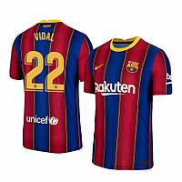 Футбольная форма Барселона VIDAL (fc Barcelona VIDAL) 2020-2021 домашняя детская, фото 1