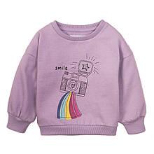 Детский свитшот батник джемпер для девочек 1-2 года Minoti 80-86 см