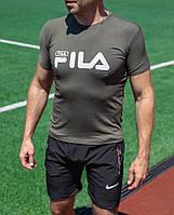Мужская футболка Fila цвета хаки