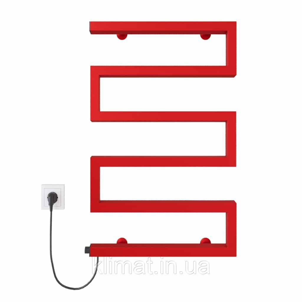 Полотенцесушитель Zeta 500х675 Э левое подкл. (красный)