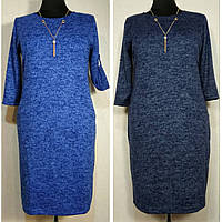 Платье женское большого размера 58 из ангоры теплое (54, 56, 60, 62) батал