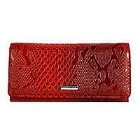 Небольшой женский кошелек кожаный лаковый красный Karya 1064-019