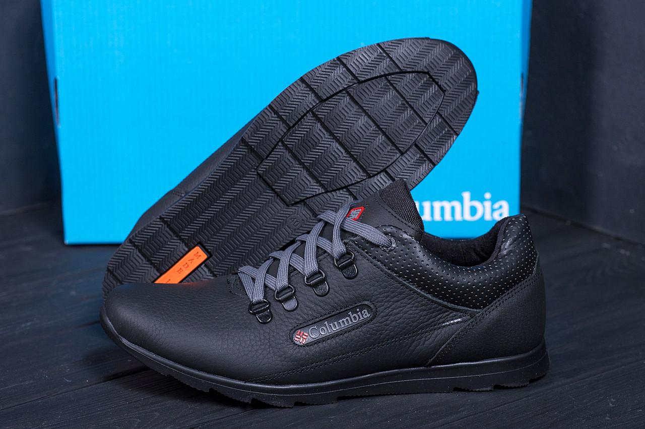 Кожаные мужские демисезонные ботинки Columbia (реплика)