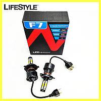 Комплект автомобильных LED ламп F7 H4 / Светодиодные лампы HeadLight