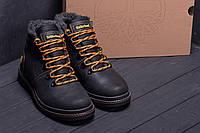 Зимние мужские ботинки на шнуровке в натуральной коже Timderland (реплика)