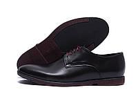 Кожаные мужские туфли на шнуровке, фото 1