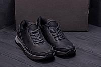 Чоловічі черевики чорного кольору з натуральної шкіри, фото 1