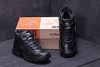 Зимние мужские сапоги черного цвета на меху, фото 1