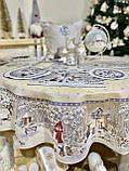 """Скатертина кругла гобеленова """"Лісова казка"""", срібний люрекс, фото 3"""