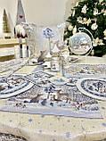 """Скатертина кругла гобеленова """"Лісова казка"""", срібний люрекс, фото 4"""