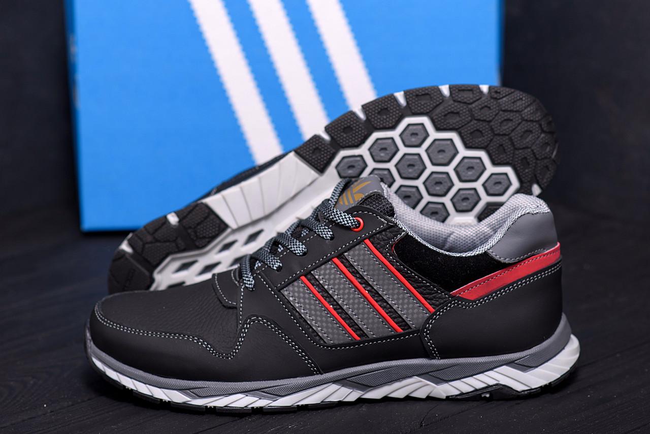 Демисезонные мужские кроссовки из натуральной кожи Adidas (реплика)