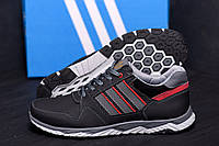 Демисезонные мужские кроссовки из натуральной кожи Adidas (реплика), фото 1